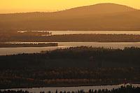 Kuusamo landscape in Oulanka, Finland.