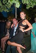 VANESSA FERNANDEZ; ROBERT HANSON; MASHA MARKOVA, Serpentine Summer party 2012 sponsored by Leon Max. Pavilion designed by Herzog & de Meuron and Ai Weiwei. Kensington Gardens. London. 26 June 2012.