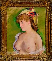 France, Paris (75), zone classée Patrimoine Mondial de l'UNESCO, Musée d'Orsay, La Blonde aux seins nus, Edouard Manet // France, Paris, Orsay museum, La Blonde aux seins nus, Edouard Manet