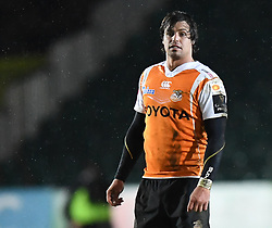 Cheetahs' Francois Venter<br /> <br /> Photographer Mike Jones/Replay Images<br /> <br /> Guinness PRO14 Round Round 18 - Dragons v Cheetahs - Friday 23rd March 2018 - Rodney Parade - Newport<br /> <br /> World Copyright © Replay Images . All rights reserved. info@replayimages.co.uk - http://replayimages.co.uk