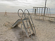 abandoned playground at a beach USA