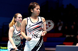 Mizuki Fuji of Bristol Jets and Jess Hopton of Bristol Jets in the women's doubles - Photo mandatory by-line: Robbie Stephenson/JMP - 07/11/2016 - BADMINTON - University of Derby - Derby, England - Team Derby v Bristol Jets - AJ Bell National Badminton League