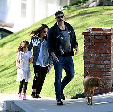 Jenna Dewan enjoys a family stroll - 13 April 2020