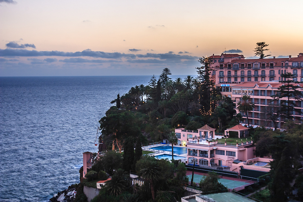 The Belmond Reid's Palace hotel in Funchal, Madeira. Throughout its illustrious history, the hotel has welcomed many notable guests, including members of British and European royalty, presidents, actors, and artists.