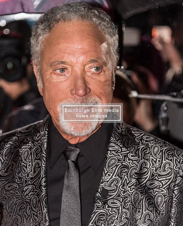 Tom Jones at The Voice UK, red carpet, Manchester<br /> <br /> (c) John Baguley | Edinburgh Elite media