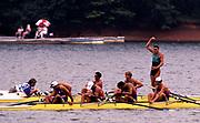 Atlanta, USA.   AUS M4- [Awesome Foursome]  Bow. Drew GINN, James TOMKINS,  Nick GREEN,  Mike McKAY. Gold Medalist. 1996 Olympic Rowing Regatta Lake Lanier, Georgia [Mandatory Credit Peter Spurrier/ Intersport Images]