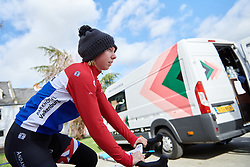 Lorena Wiebes (NED) makes her way to sign on at the 2020 Omloop Van Het Hageland, a 130 km road race from Tienen to Tielt-Winge, Belgium on March 1, 2020. Photo by Sean Robinson/velofocus.com