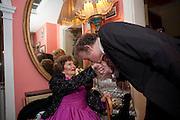 JACQUELINE LADY KILLEARN;RICHARD BRIGGS, Jacqueline, Lady Killearn celebrated 101st birthday in her house in harley st. London. 13 January 2010. -DO NOT ARCHIVE-© Copyright Photograph by Dafydd Jones. 248 Clapham Rd. London SW9 0PZ. Tel 0207 820 0771. www.dafjones.com.