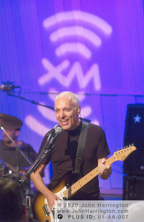 Peter Frampton preforms at XM as a part of XM's Artist confidential series on Monday June 21, 2004.