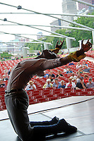 USA, Chicago, July 17, 2009.  Founded by Cuban-born artistic director Eduardo Vilaro, Luna Negra Dance Theater is celebrating the company's 10th anniversary with a collaboration between Brazilian jazz singer Luciana Souza and the Grant Park Orchestra at Millennium Park. Luna Negra creates, performs and teaches the work of contemporary Latino choreographers.