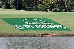 September 20, 2018 - Atlanta, GA, U.S. - ATLANTA, GA - SEPTEMBER 20: Signage for the FedEx Cup Playoffs during the first round of the PGA Tour Championship on September 20, 2018, at East Lake Golf Club in Atlanta, GA. (Photo by Michael Wade/Icon Sportswire) (Credit Image: © Michael Wade/Icon SMI via ZUMA Press)