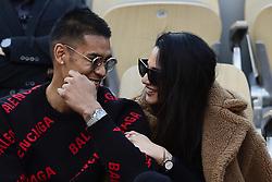May 28, 2019 - Paris, France, FRANCE - Alphonse Areola et sa femme Marion (Credit Image: © Panoramic via ZUMA Press)