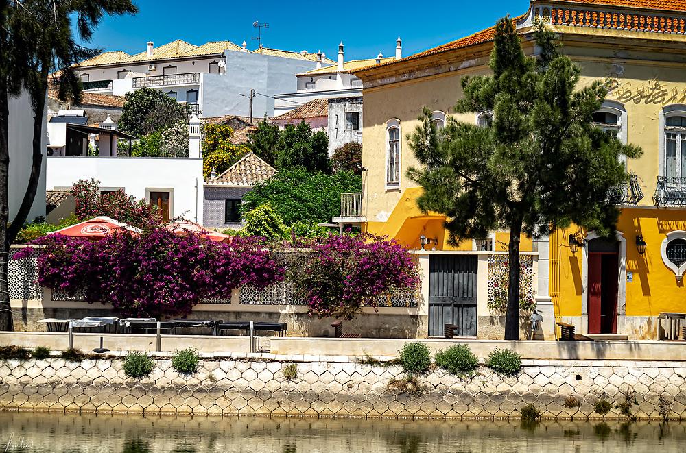 A view across the Rio Gilão in Tavira, Portugal