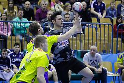 Povilas Babarskas #7 of RK Celje Pivovarna Lasko during handball match between RK Celje Pivovarna Lasko (SLO) and Besiktas J.K. (TUR)  in 14th Round of EHF Men's Champions League 2015/16, on March 5, 2016 in Arena Zlatorog, Celje, Slovenia. (Photo by Ziga Zupan / Sportida)