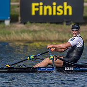 Robbie Manson New Zealand Mens Single Scull<br /> <br /> Semi-Finals races at the World Championships, Sarasota, Florida, USA Friday 29 September 2017. Copyright photo © Steve McArthur / Rowing NZ