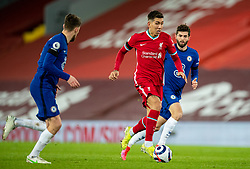 LIVERPOOL, ENGLAND - Thursday, March 4, 2021: Liverpool's Roberto Firmino during the FA Premier League match between Liverpool FC and Chelsea FC at Anfield. Chelsea won 1-0 condemning Liverpool to their fifth consecutive home defeat for the first time in the club's history. (Pic by David Rawcliffe/Propaganda)