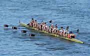 London, United Kingdom. Thames RC. B Crew, from Barnes Rail Bridge ridge  2014 Women's Head of the River Race. Chiswick to Putney, River Thames.  Saturday  15/03/2014    [Mandatory Credit; Peter Spurrier/Intersport-images]