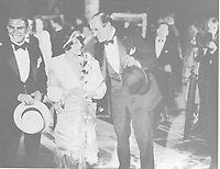 1927 Ernest Ian Torrence, Elsie Torrence and Ernest Torrence at the movie premiere of King of Kings at Grauman's Chinese Theater