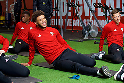 CARDIFF, WALES - Monday, November 19, 2018: Wales' Tyler Roberts during a training session at the Vale Resort ahead of the International Friendly match between Albania and Wales. (Pic by David Rawcliffe/Propaganda)