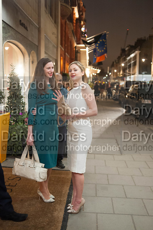 AMBER MAXIM; KATHRYN PARSONS; The Veuve Clicquot Business Woman Of The Year Award, celebrating women's excellence in business and commitment to sustainability. Claridge's, Brook Street, London, 22 April 2013