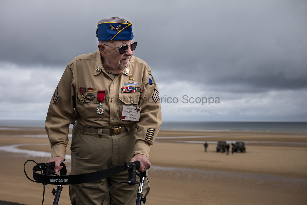 """D-Day veteran, Clarence """"Mac"""" Evans, 87 y/o, 29th division, 116th infantry regiment, on Omaha Beach."""