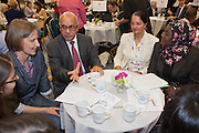 Virendra Sharma MP  in discussion with his constituents at the Tea time for change event. Refreshing the call for justice. Organised by the UK's leading NGO's.  Enabling constituents to dicuss the subject with their MP.