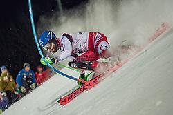 "29.01.2019, Planai, Schladming, AUT, FIS Weltcup Ski Alpin, Slalom, Herren, 1. Lauf, im Bild Marco Schwarz (AUT) // Marco Schwarz of Austria in action during his 1st run of men's Slalom ""the Nightrace"" of FIS ski alpine world cup at the Planai in Schladming, Austria on 2019/01/29. EXPA Pictures © 2019, PhotoCredit: EXPA/ Dominik Angerer"