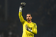 Derby County goalkeeper Kelle Roos (21) waves to the fans during the EFL Sky Bet Championship match between West Bromwich Albion and Derby County at The Hawthorns, West Bromwich, England on 14 September 2021.