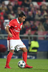 December 5, 2017 - Lisbon, Portugal - Benfica's Portuguese midfielder Joao Carvalho in action during the UEFA Champions League Group A football match between SL Benfica and FC Basel at the Luz stadium in Lisbon, Portugal on December 5, 2017. (Credit Image: © Pedro Fiuza/NurPhoto via ZUMA Press)