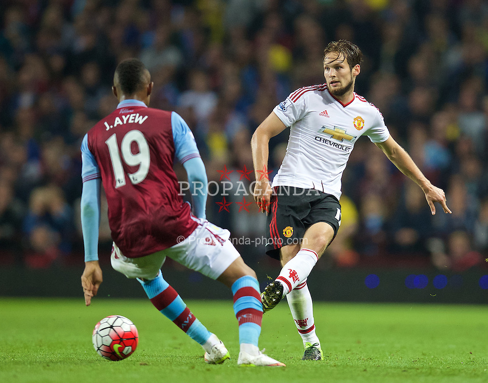 BIRMINGHAM, ENGLAND - Friday, August 14, 2015: Manchester United's Daley Blind in action against Aston Villa during the Premier League match at Villa Park. (Pic by David Rawcliffe/Propaganda)