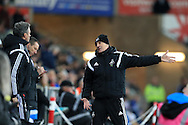 Swansea city head coach Francesco Guidolin  looks on. Barclays Premier league match, Swansea city v Aston Villa at the Liberty Stadium in Swansea, South Wales on Saturday 19th March 2016.<br /> pic by  Andrew Orchard, Andrew Orchard sports photography.