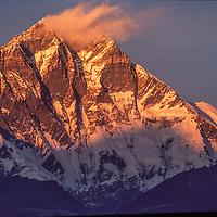 NEPAL, HIMALAYA. 27,890' (Mount) Lhotse, earth's second highest, Khumbu region.