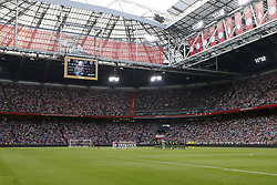 a minute of silence in memory of Heinz Schilcher during the UEFA Champions League second round qualifying first leg match between Ajax Amsterdam and Sturm Graz at the Johan Cruijff Arena on July 25, 2018 in Amsterdam, The Netherlands