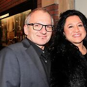 NLD/Amsterdam/20130315 - Boekenbal 2013 Stadsschouwburg , Jeroen van Inkel en partner Sandra Dinsbach