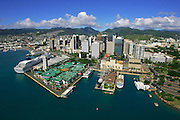 Honolulu Harbor, Honolulu, Oahu,  Hawaii, USA