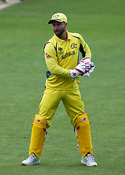 June 5, 2017 - London, United Kindom - Matthew Wade of Australia.during the ICC Champions Trophy match Group A between Australia and Bangladesh at The Oval in London on June 05, 2017  (Credit Image: © Kieran Galvin/NurPhoto via ZUMA Press)