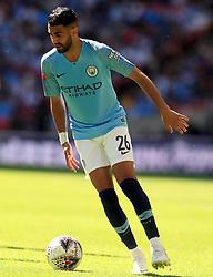 Manchester City's Riyad Mahrez during the Community Shield match at Wembley Stadium, London