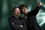 Australian illustrator and Oscar-winning film-maker Shaun Tan (left), pictured at the Edinburgh International Book Festival with English writer Neil Gaiman.