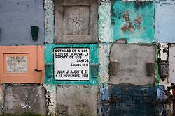 Colorful cemetery in San Lucas Tolimán near Lake Atitlán, Guatemala