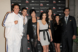 Bruce Jenner,Rob Kardashian,Kris Kardasahian,Kim Kardashian,Khloe Kardashian Odom, Kourtney Kardashian and Scott Disick at The Kardashian Charity Knock Out held at The Commerce Casino in Commerce, Los Angeles, CA, USA on November 3, 2009. Photo by Debbie VanStory/ABACAPRESS.COM  | 207926_006 Los Angeles n