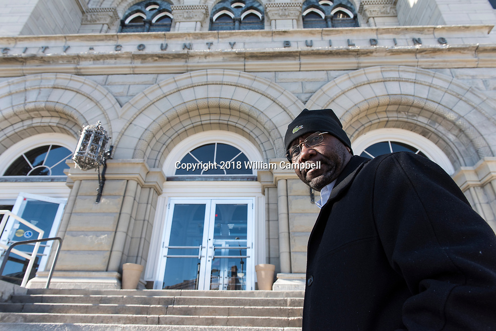 HELENA,MT-JANUARY 31-Wilmot Collins, the newly elected Mayor of Helena, Montana  outside the County and City building on his way to the Mayor's office. <br /> <br /> Wilmot Collins, 54, is a former Liberian refugee who recently defeated a four-term incumbent to become Mayor of Helena, Montana, the state's capital city. Collins is Montana's first elected black mayor since statehood. Mayor Collins arrived in the United States in 1994 as a refugee from the brutal Liberian civil war, joining his wife, Maddie, a medical student who arrived ahead of him. Mr. Collins became a United States citizen in 2001. He has served in the US military for 22 years in the Army, Army Reserve, and currently Navy Reserve. Mr. Collins is a child protection specialist with the Montana Department of Child and Family Services and an adjunct professor at the Helena College of the University of Montana.