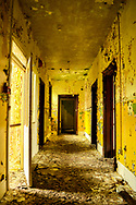 Derelict interior of old house in England