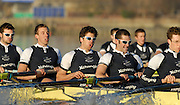 """Putney, Great Britain,  Shirts, left to right, Ben SMITH, 4. Oliver MOORE, 5. Andrew WRIGHT, 6. Aaron MARCOVY, during the Oxford University Trial Eights, between """"Shirts and Skins"""". Raced over  the championship course Putney to Mortlake. 12/12/2007 [Mandatory Credit Peter Spurrier/Intersport Images]..OUBC Crews:.Shirts, left to right, Ben SMITH, 4. Oliver MOORE, 5. Andrew WRIGHT, 6. Aaron MARCOVY, Varsity Boat Race, Rowing Course: River Thames, Championship course, Putney to Mortlake 4.25 Miles,"""