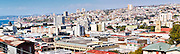 Panorama of Valparaiso from Bellavista hill, in the middle of the city