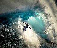 Big Wave surfer Kai Lenny at Jaws on Maui's North Shore.