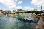 Ha'Amal Stream AKA Hasi River Flows through Kibbutz Nir David in Northern Israel