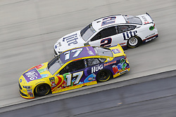 May 6, 2018 - Dover, Delaware, United States of America - Ricky Stenhouse, Jr (17) and Brad Keselowski (2) battle for position during the AAA 400 Drive for Autism at Dover International Speedway in Dover, Delaware. (Credit Image: © Chris Owens Asp Inc/ASP via ZUMA Wire)