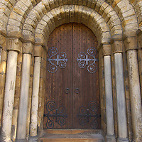 The Old Church South Door of Dunfermline Abbey, Scotland,<br />