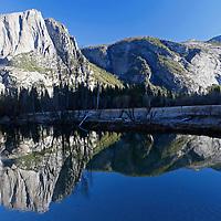 USA, California, Yosemite National Park. Yosemite Valley reflection.