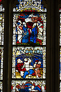 """More than half of England's medieval stained glass is held in York Minster's 128 windows. York Minster, built over 250 years 1220-1472 AD, is one of the finest medieval buildings in Europe. Also known as St Peter's, its full name is """"Cathedral and Metropolitical Church of St Peter in York,"""" located in England, United Kingdom, Europe. York Minster is the seat of theArchbishop of York, the second-highest office of the Church of England.""""Minster"""" refers to churches established in the Anglo-Saxon period as missionary teaching churches, and now serves as an honorific title.York was founded by the Romans as Eboracum in 71 AD. As the center of the Church in the North, York Minster has played an important role in great national affairs, such as during the Reformation and Civil War."""